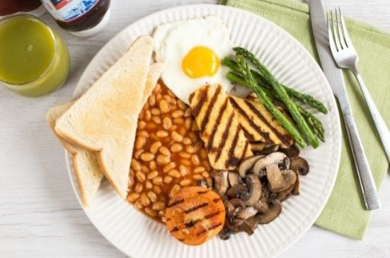 English Vegetarian Breakfast