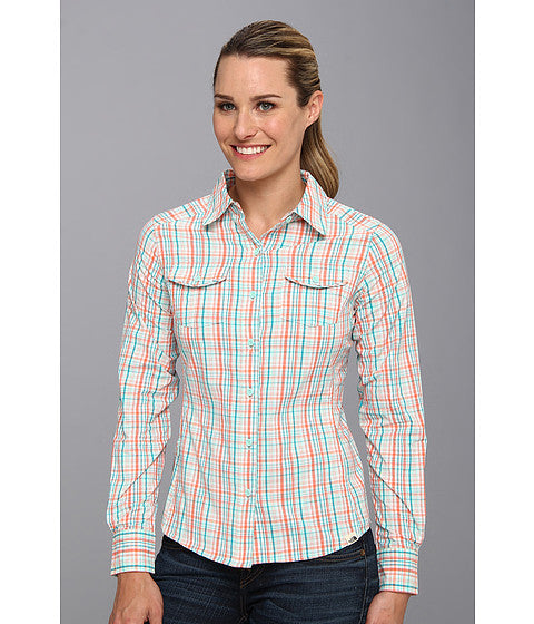 The North Face Women's Paramount Woven Fire Brick Red Plaid