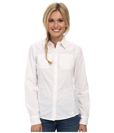The North Face Women's LS Cool Hrizn Shirt White