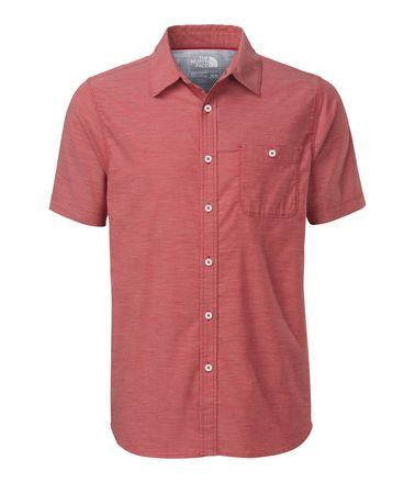 The North Face Men's  S/S RD Point Shirt Pompeian Red