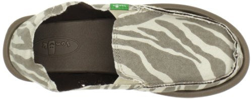 Sanuk Women's I'm Game Loafer Zebra Natural