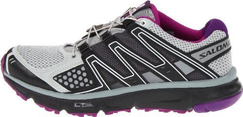 Salomon Women's XR Mission Trail Running Shoe Light Onyx/Black/Anemone Purple Size 8