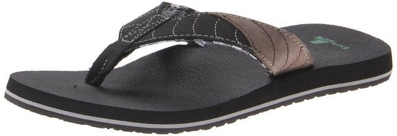 Sanuk Men's Pave The Wave Flip Flop Black/Charcoal