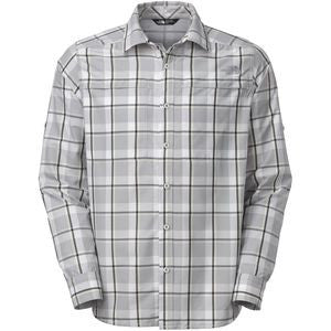 The North Face Men's L.S. Traverse P Shirt Mid Grey Plaid