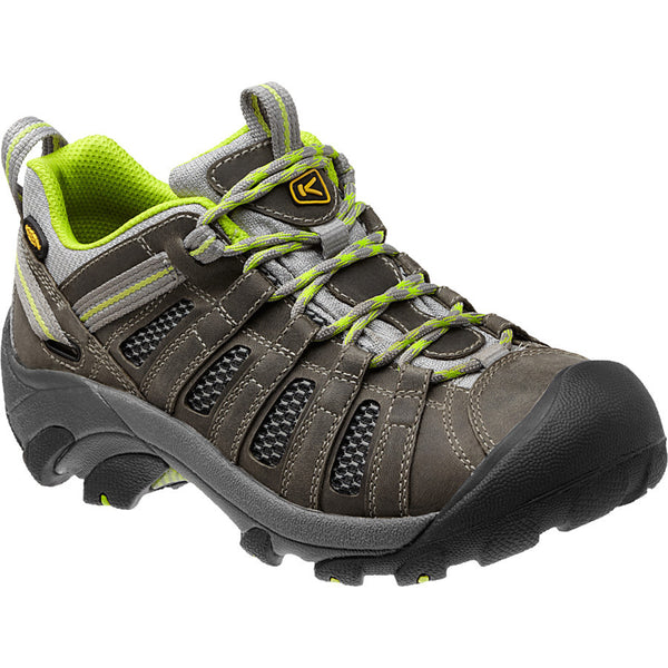 Keen Women's Voyageur Hiking Shoe Neutral Gray/Lime Green