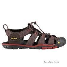 Keen Men's Clearwater CNX Sandal,Raven/Burnt Henna,10 M US