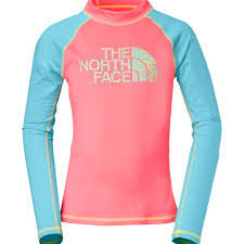 The North Face Girls Dogpatch LS Rash Guard Sugary Pink
