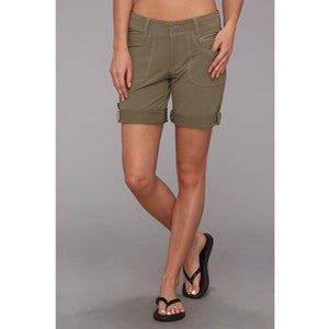 Kuhl Women's Vala Roll-Up Short Khaki
