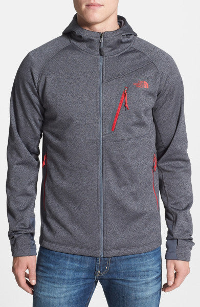 The North Face Men's Canyonlands Hoodie Full Zip Asphalt Grey Heather