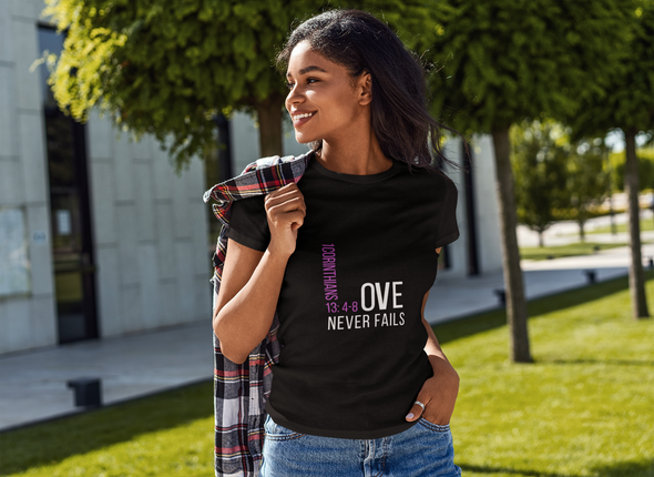 Love Never Fails Short-Sleeve Unisex T-Shirt