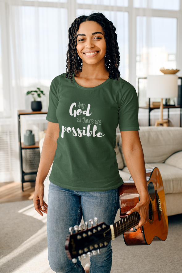With God all things are Possible Short-Sleeve Unisex T-Shirt