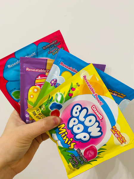 Blow pop bags (assorted colours)