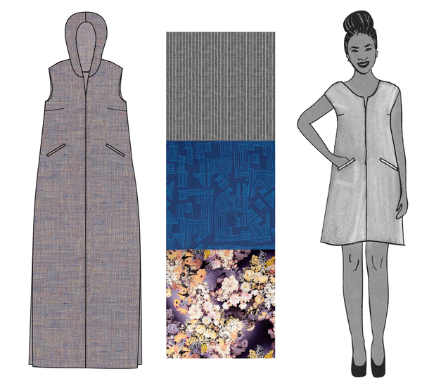 linen fabric and the Leralynn Dress sewing pattern from Blank Slate Patterns