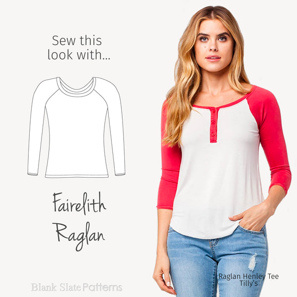 Sew this Tilly's look with the Fairelith Raglan Top from Blank Slate Patterns
