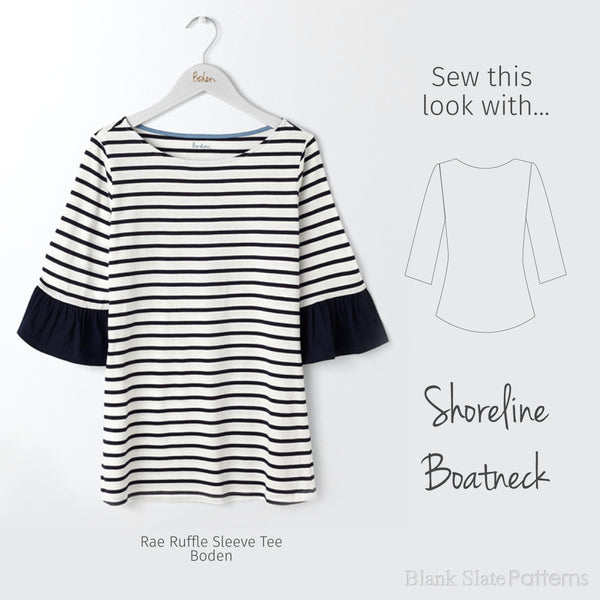 Sew this Boden look with the Shoreline Boatneck from Blank Slate Patterns
