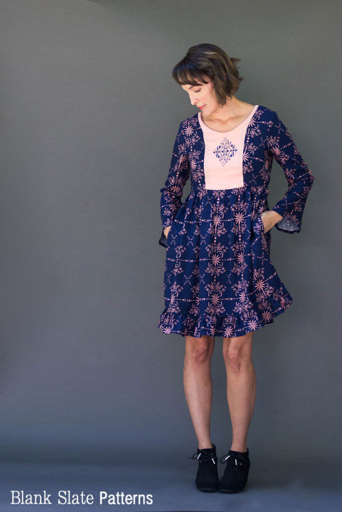 Scoop Neck Option -  Auberley Hack Pack - Add on to the Auberley Dress Sewing Pattern by Blank Slate Patterns