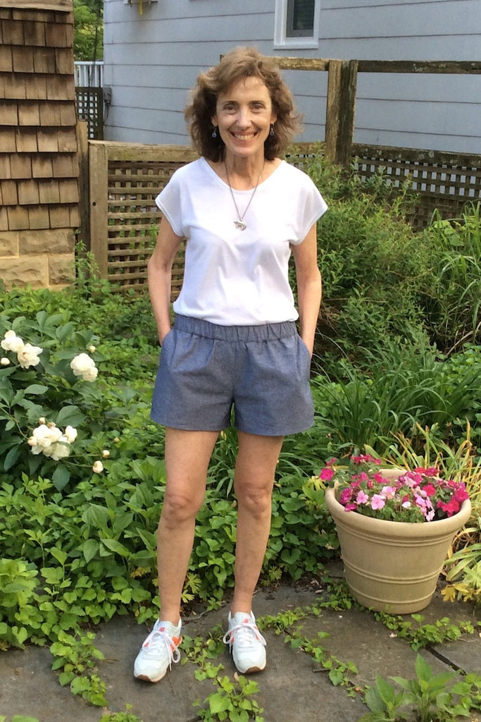 Easy sew shorts - Barton Shorts Sewing Pattern by Blank Slate Patterns. Lace or bias tape trim or simple hem with pockets! 3 inch and 5 inch inseams. Perfect for summer!