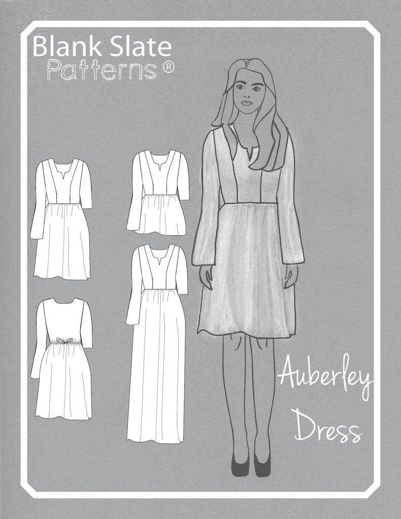 Cover Art - Auberley Baby Doll Dress Pattern - Sewing Pattern by Blank Slate Patterns