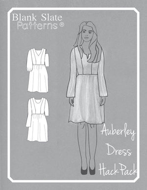 Auberley Hack Pack Line Drawings - Auberley Baby Doll Dress Pattern - Sewing Pattern by Blank Slate Patterns