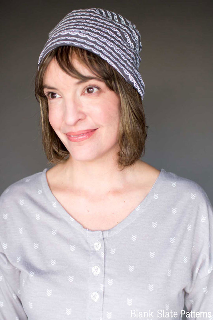 Women's Size - Blank Slate Patterns Slouchy Beanie Hat Pattern - Sew a stretchy knit hat