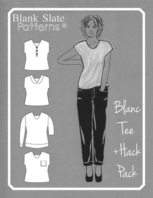 Cover - Blanc T Shirt Hack Pack- Women's T shirt sewing pattern by Blank Slate Patterns
