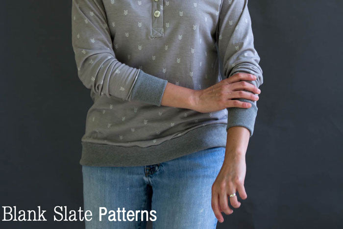 Long Sleeved T-shirt - Blanc T Shirt - Women's T shirt sewing pattern by Blank Slate Patterns