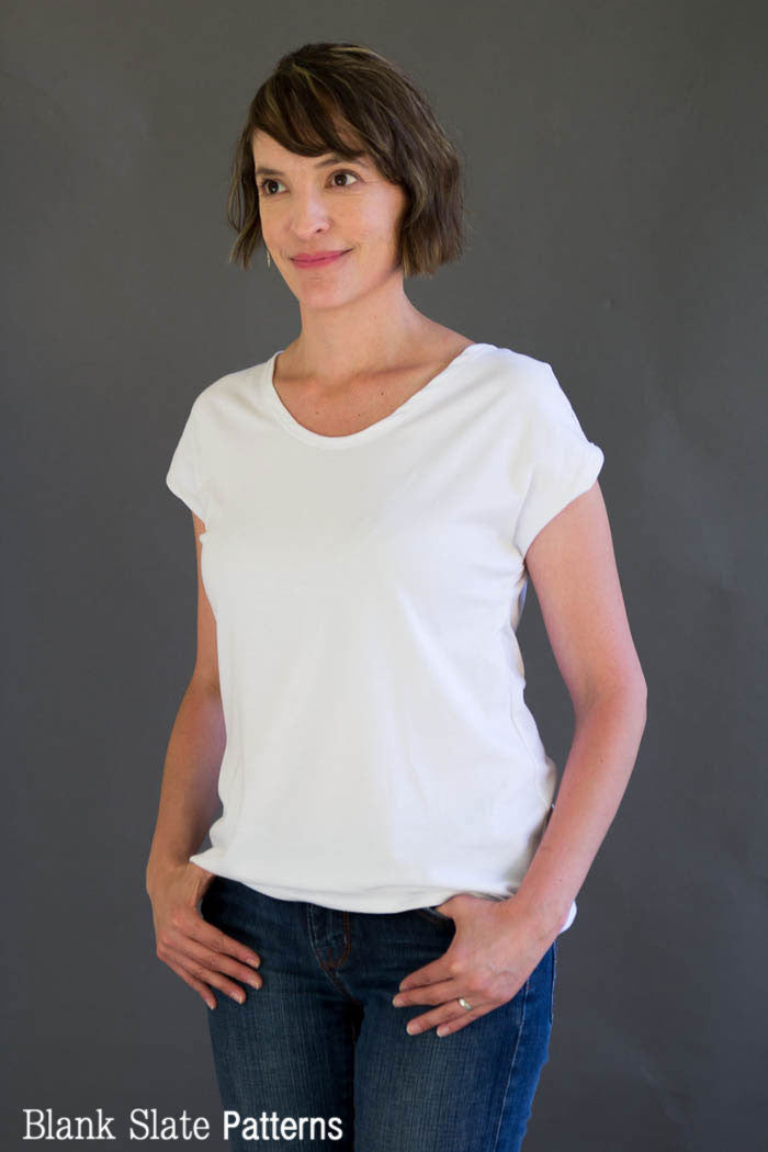 Blanc T Shirt - Women's T shirt sewing pattern by Blank Slate Patterns