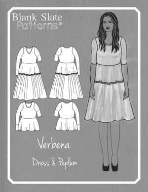 Line Drawing and Illustration - Tiered dress pattern - Verbena Dress from Blank Slate Patterns - stretch knit dress pattern