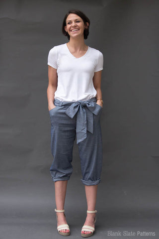 Capri length - Forsythe Trousers and Capris - Women's Trouser sewing pattern by Blank Slate Patterns