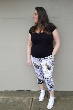 Capri length - Skye Joggers Pattern - Women's Sweatpants Pattern - Sew Track Pants  - Blank Slate Patterns