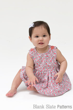 Raleigh Dress Pattern -  Baby Dress Pattern by Blank Slate Patterns