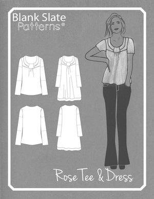 Line Drawing - Rose T-Shirt pdf sewing pattern by Blank Slate Patterns