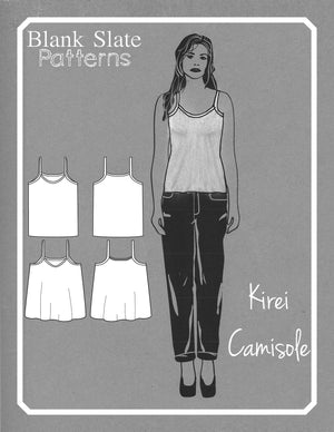 Line Drawings - Kirei Camisole - Knit Tank Top Sewing Pattern by Blank Slate Patterns
