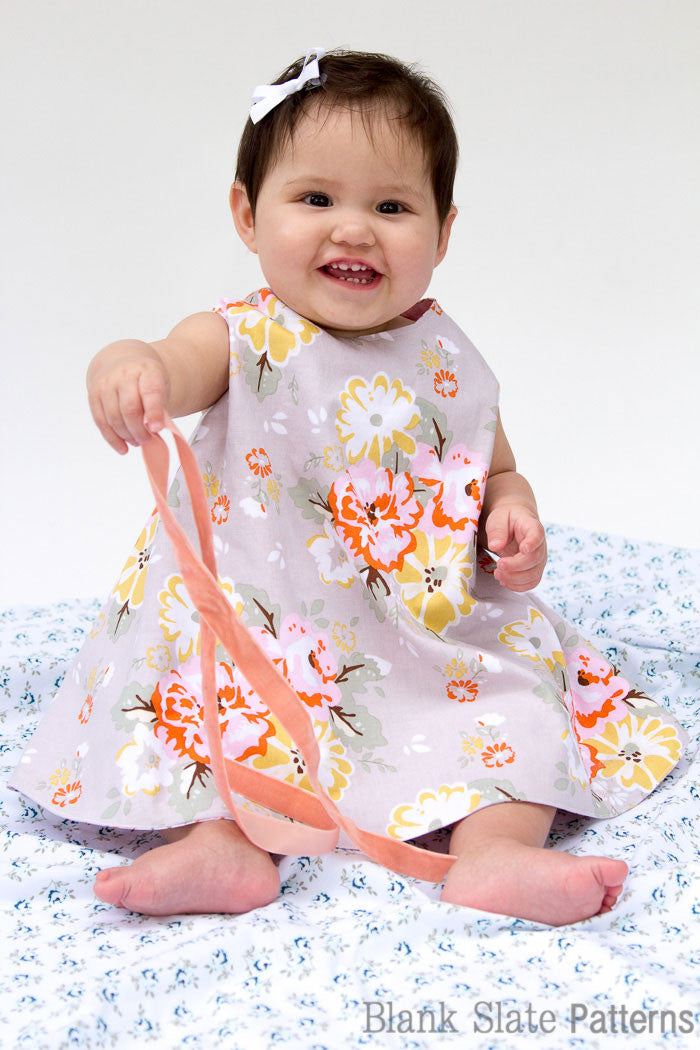 Criss Cross Pinafore Dress and Buttercup Bloomers - Blank Slate Patterns