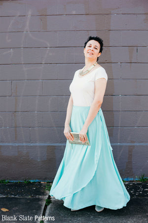 Maxi Length - Daintree Skirt by Blank Slate Patterns - Wrap Skirt Sewing Pattern