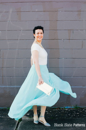 Wrap circle skirt - Daintree Skirt by Blank Slate Patterns - Wrap Skirt Sewing Pattern