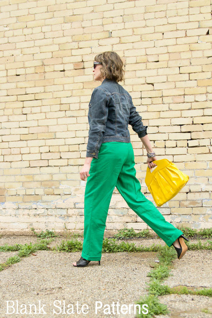 Back view - Forsythe Trousers and Capris - Women's Trouser sewing pattern by Blank Slate Patterns