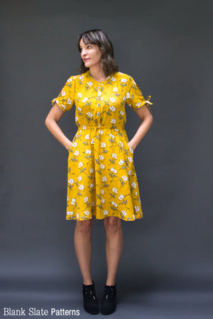 Split Sleeve Hack Version - Marigold Dress - Shirt Dress Women's Sewing Pattern by Blank Slate Patterns