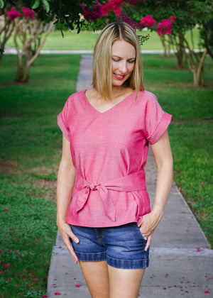 Summer outfit - Esma - Boxy top woven t shirt pattern by Blank Slate Patterns
