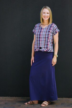 Cropped view - Esma - Boxy top woven t shirt pattern by Blank Slate Patterns