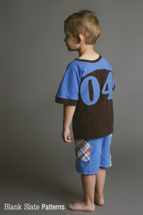 So cute! Football Jersey Sewing Pattern for Kids - Blank Slate Patterns