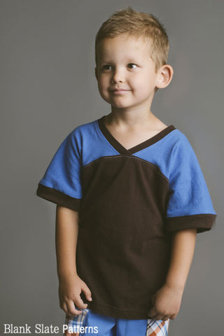 Football Jersey Sewing Pattern for Boys - Blank Slate Patterns