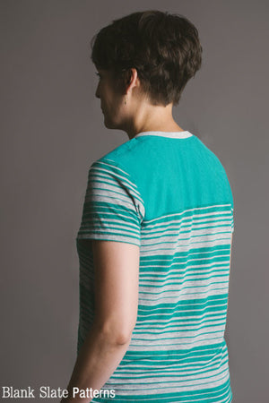 Back View - Juniper Jersey - Women's T-Shirt Sewing Pattern by Blank Slate Patterns