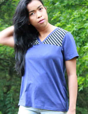 Casual t shirt - Juniper Jersey - Women's T-Shirt Sewing Pattern by Blank Slate Patterns