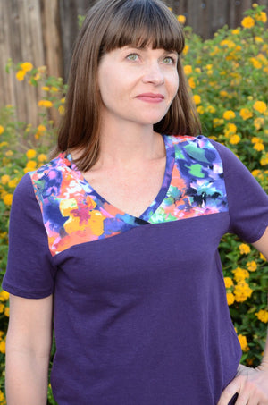 Bright and colorful t shirt - Juniper Jersey - Women's T-Shirt Sewing Pattern by Blank Slate Patterns