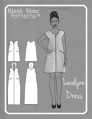 Cover Art - Leralynn Dress - by Blank Slate Patterns - Women's Shift Dress Sewing Pattern