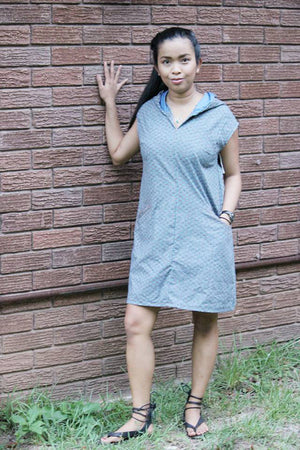 Hooded A Line Dress - Leralynn Dress - by Blank Slate Patterns - Women's Shift Dress Sewing Pattern