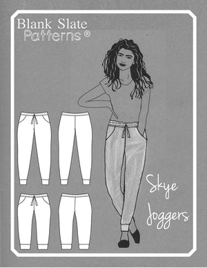 Line Drawing - Skye Joggers Pattern - Womens Sweatpants Pattern - Sew Track Pants  - Blank Slate Patterns