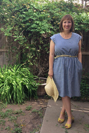 Catalina Dress Pattern by Blank Slate Patterns - Cap Sleeve version