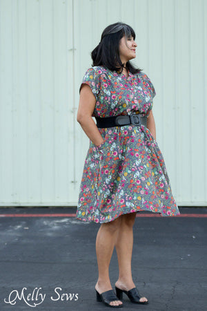 Cap Sleeve Version - Marigold Dress with cap sleeves - Sewing Pattern by Blank Slate Patterns